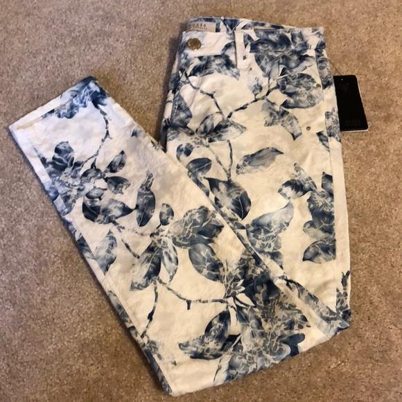 Guess Denim - Guess floral skinny jeans
